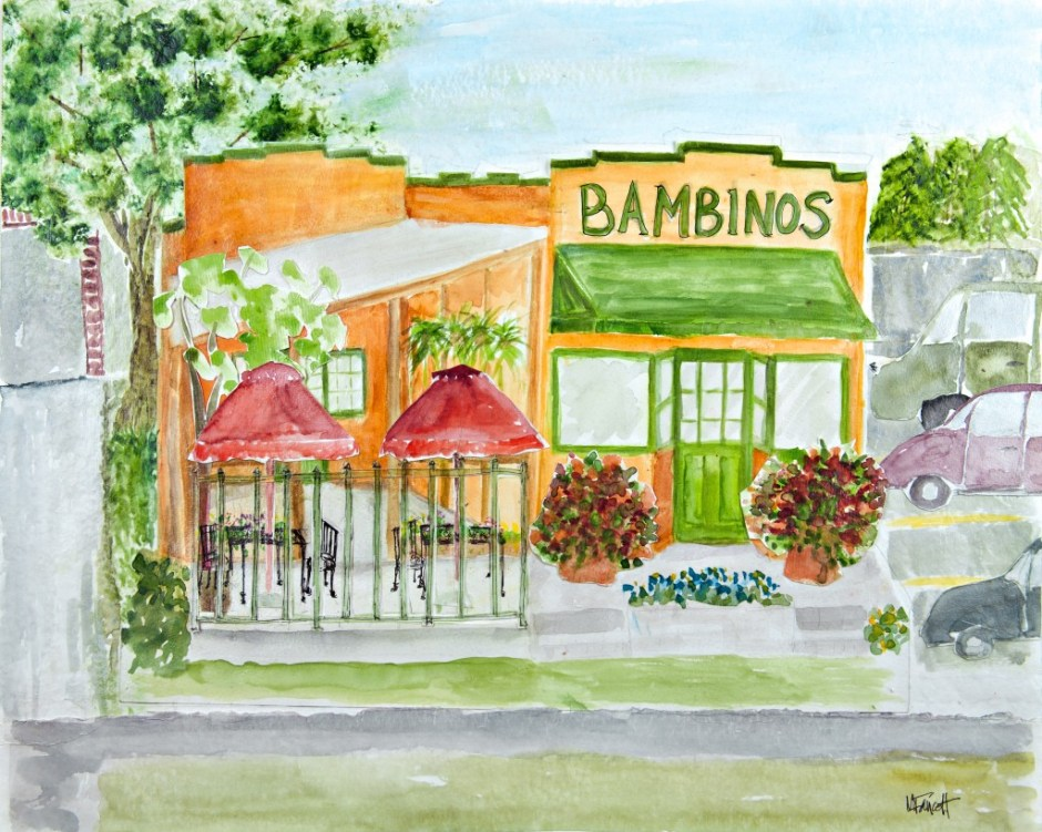 Bambinos Cafe Watercolor - Springfield MO Restaurant