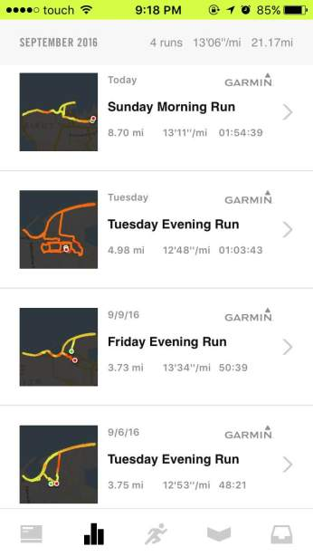 Monday Runs Not Tracked