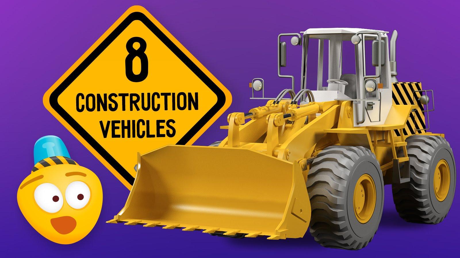 Kid S Construction Cartoon Excavator Crane Dump Truck