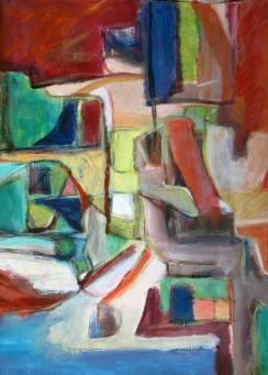 abstracte compositie - olie
