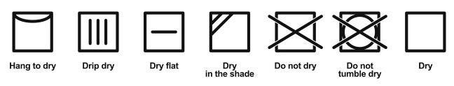 simboli lavaggio - asciugatura