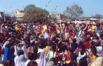 Delhi Frauentag Menge