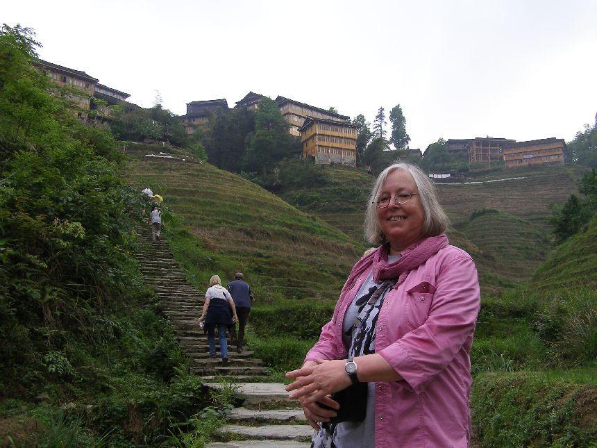 In den Reisterrassen von Longsheng - Wanderung mit der Gruppe