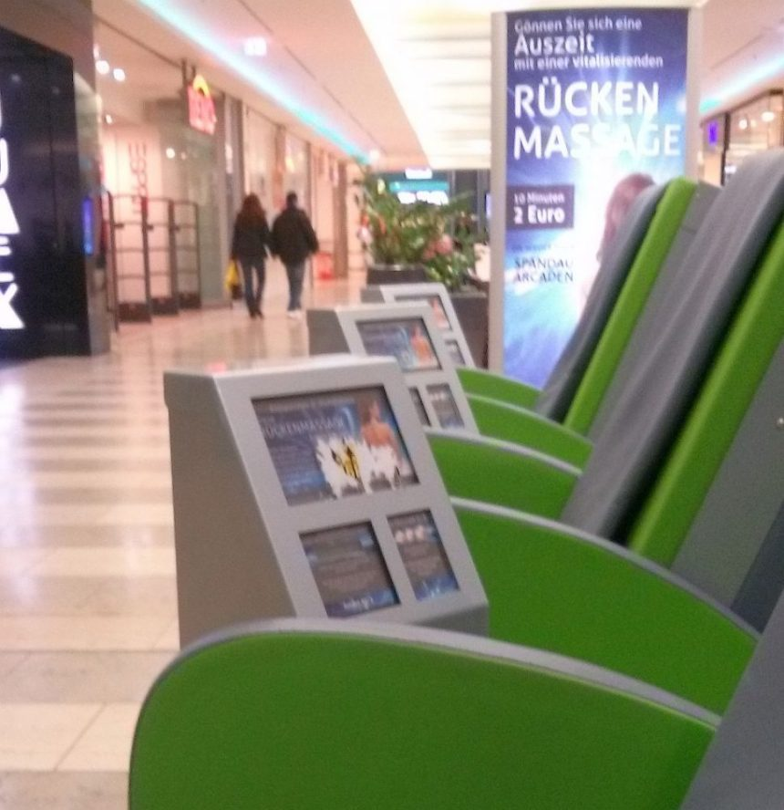 Massagesessel in den Spandau Arcaden