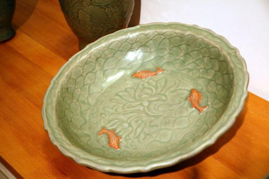 Schale mit Goldfischen