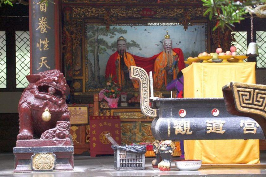 Daoistischer Tempel Jianfu Palast - Altar