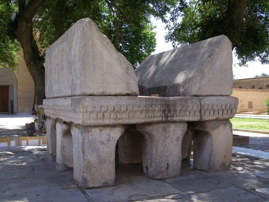 Samarkand Moschee Bibi Khanum Koranständer