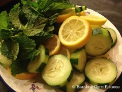 Cucumber, Lemon and Mint Water