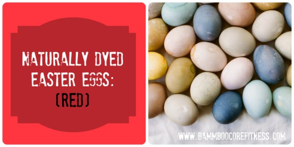 Naturally Dyed Easter Eggs - Red