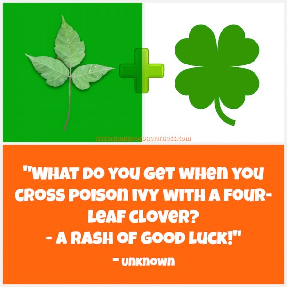 What do you get when you cross poison ivy with a four-leaf clover