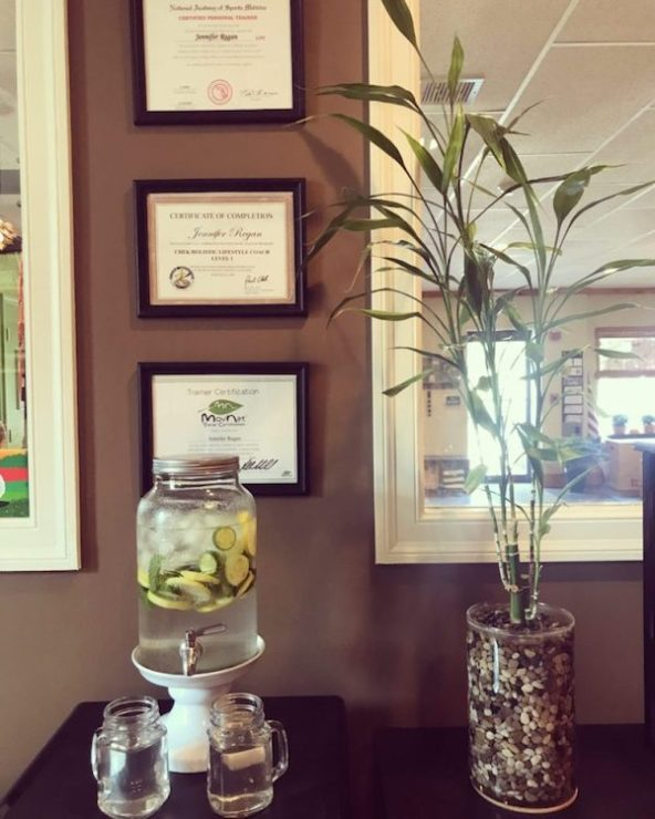 Cucumber, Lemon, Lime and Mint Infused Water at BambooCore | © bamboocorefitness.com