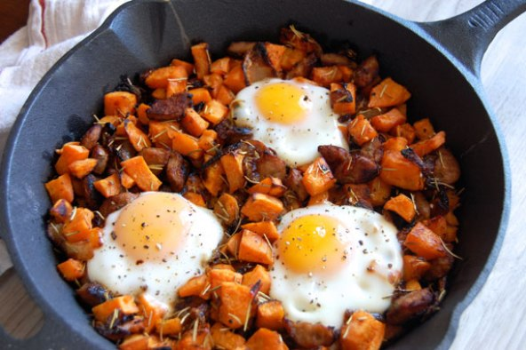 Sweet potato hash and egg recipe