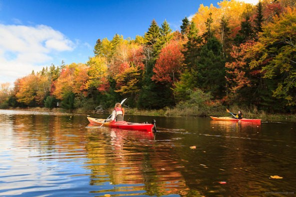 Fall fitness kayaking