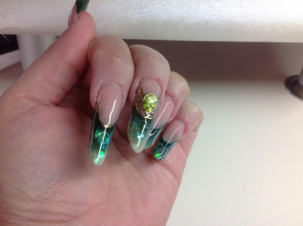 Nail Art sur ma POSE D ONGLES de Formation Bibulle (2/4)