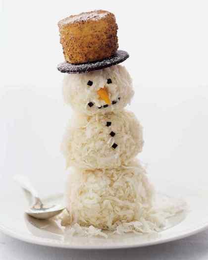 5. coconut snowman