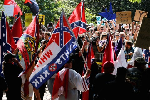 White supremacist rally... Credit- Reuters Jonathan Ernst