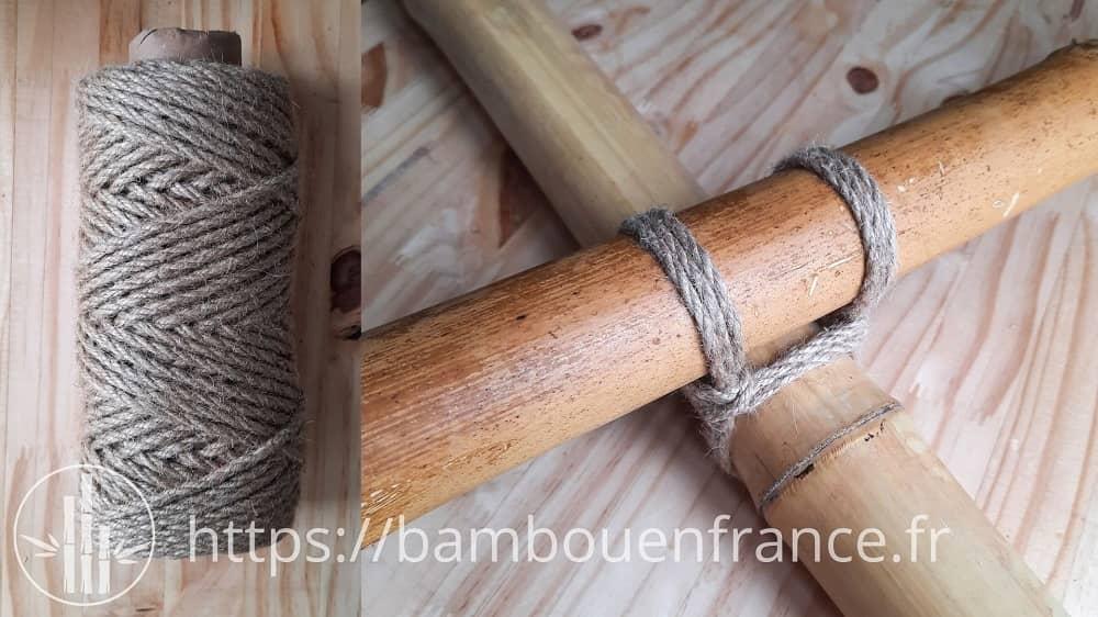Assemblage bambou corde végétale