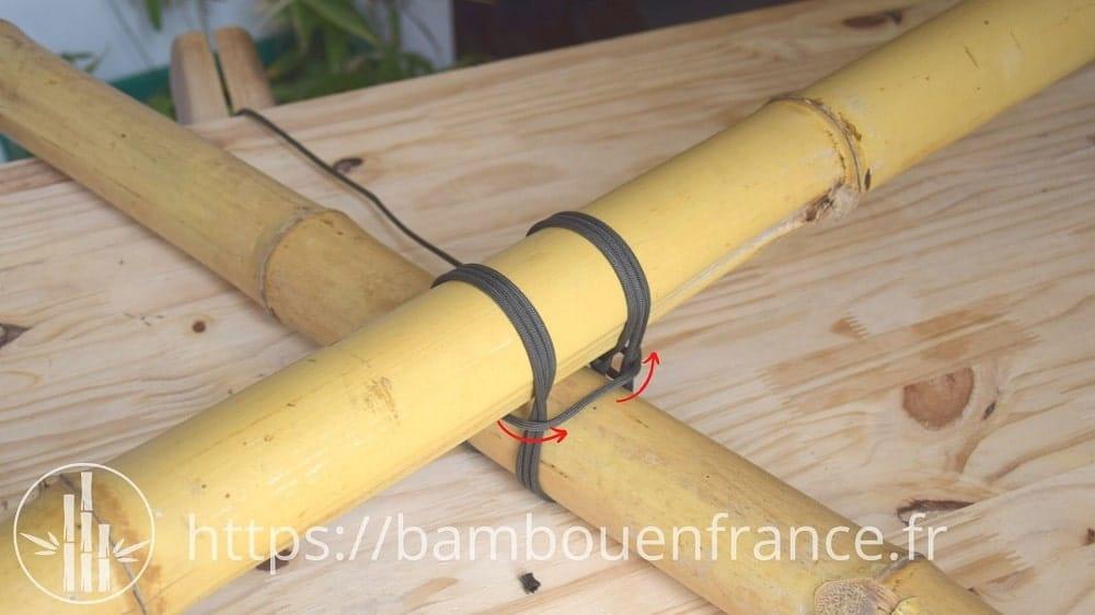 Assembler des bambous avec un brêlage: Etape 7