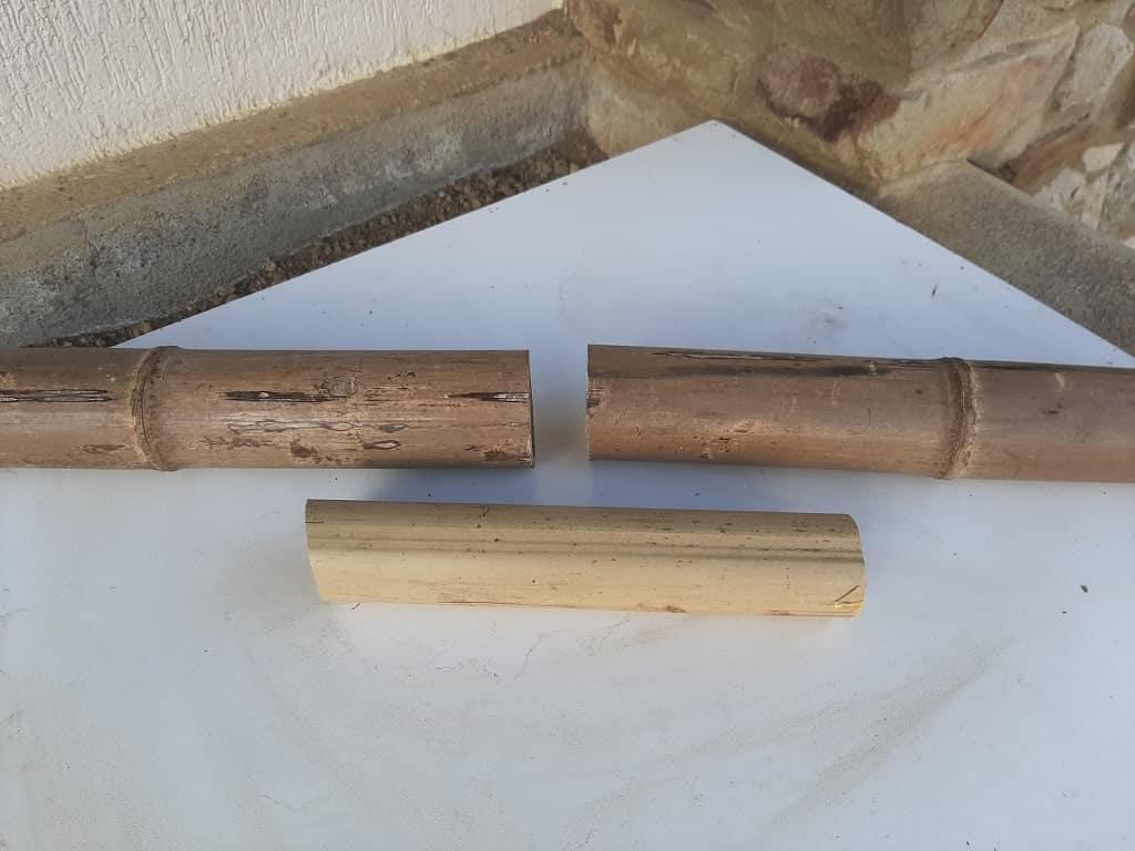 Assembler des bambous avec un manchon interne