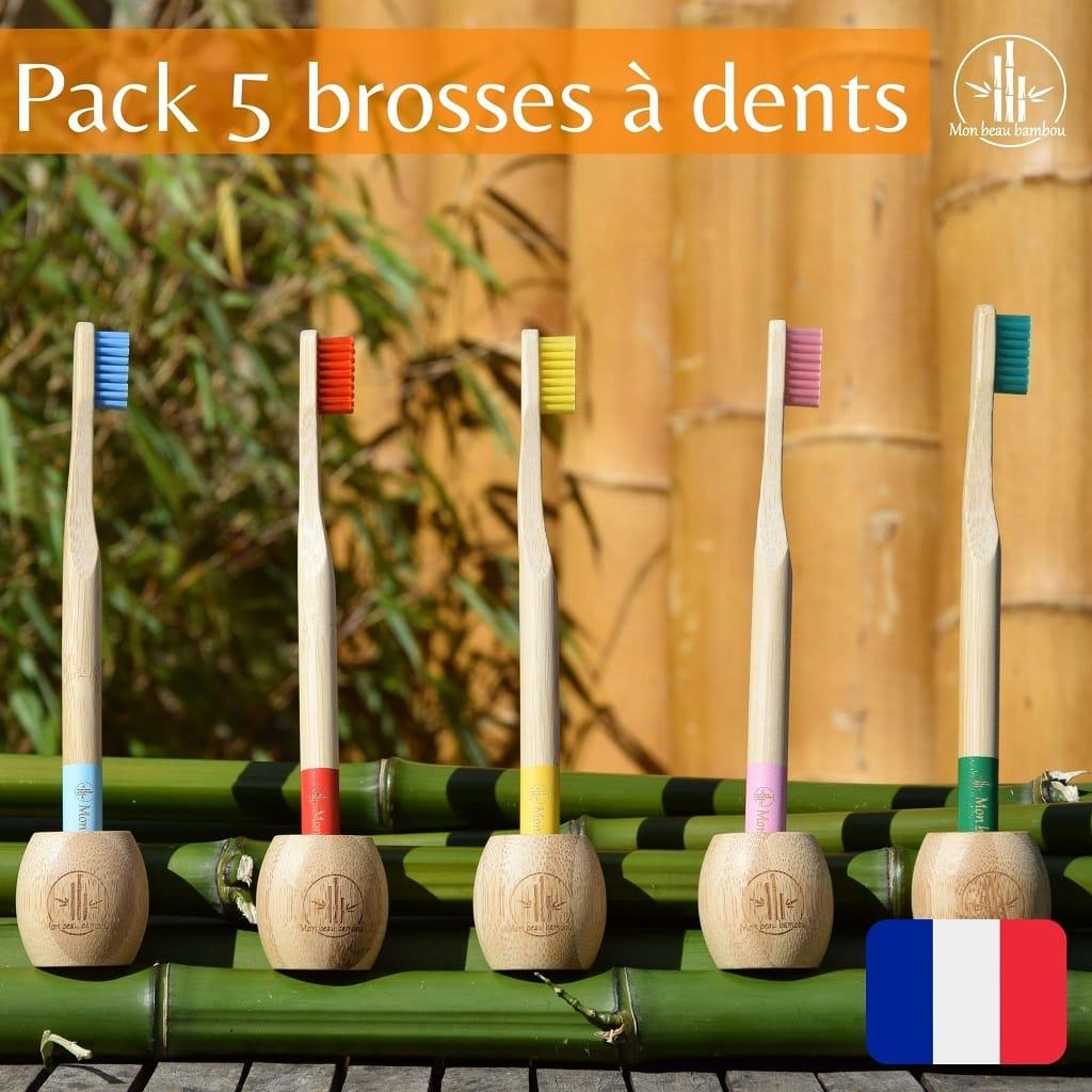Brosse à dents en bambou de marque française