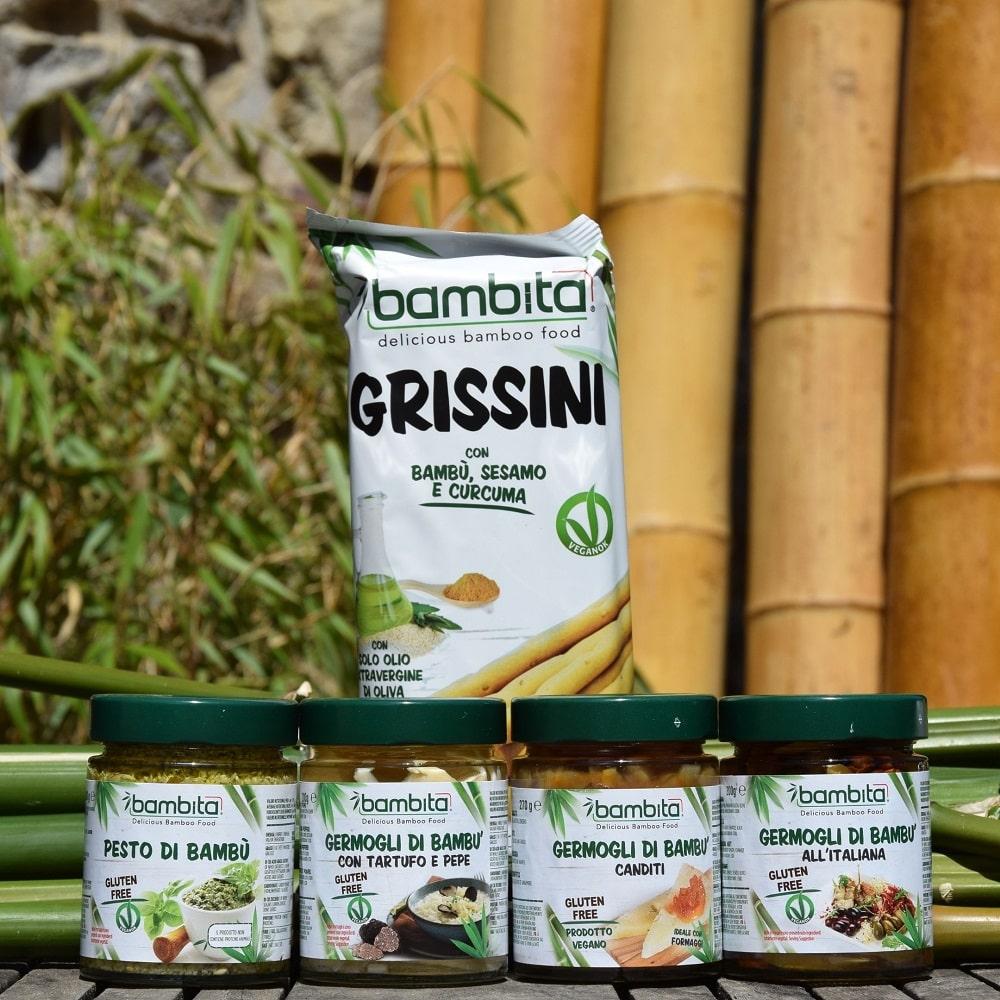 Gamme de produits alimentaires au bambou Bambita