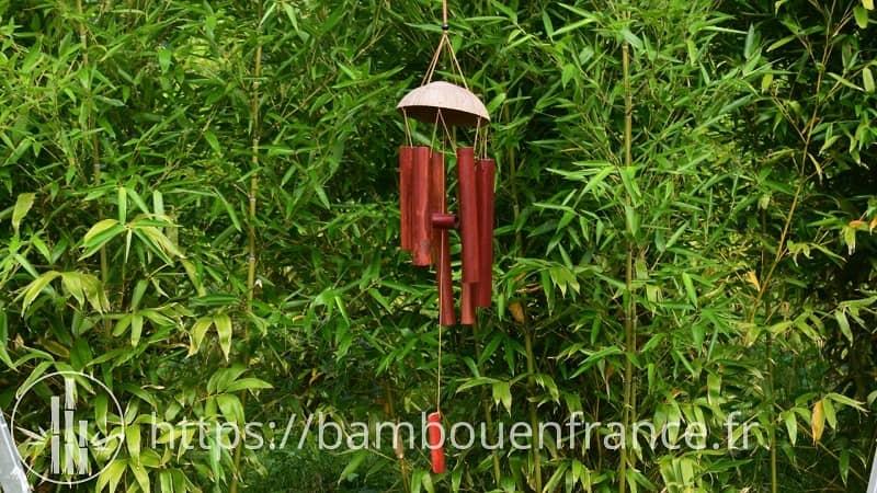 Carillon en bambou brun