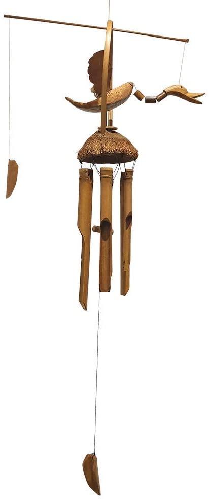 Carillon en bambou avec canard