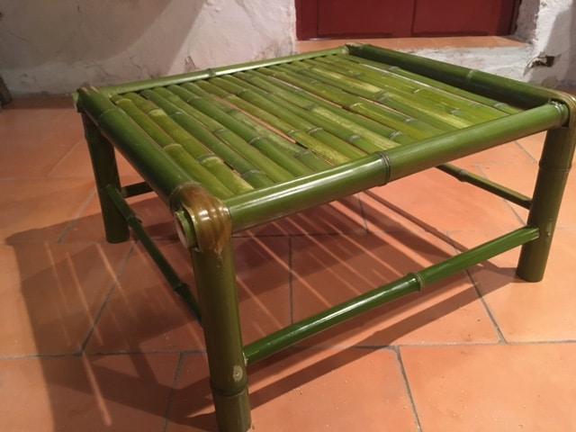 Table bambou vert