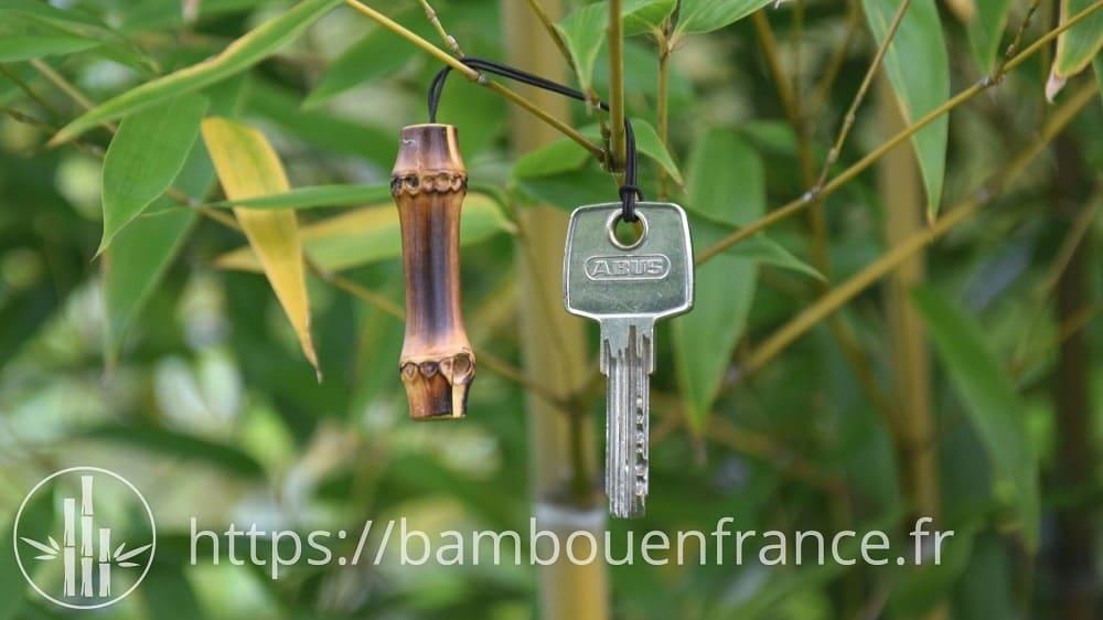 porte clé en bambou