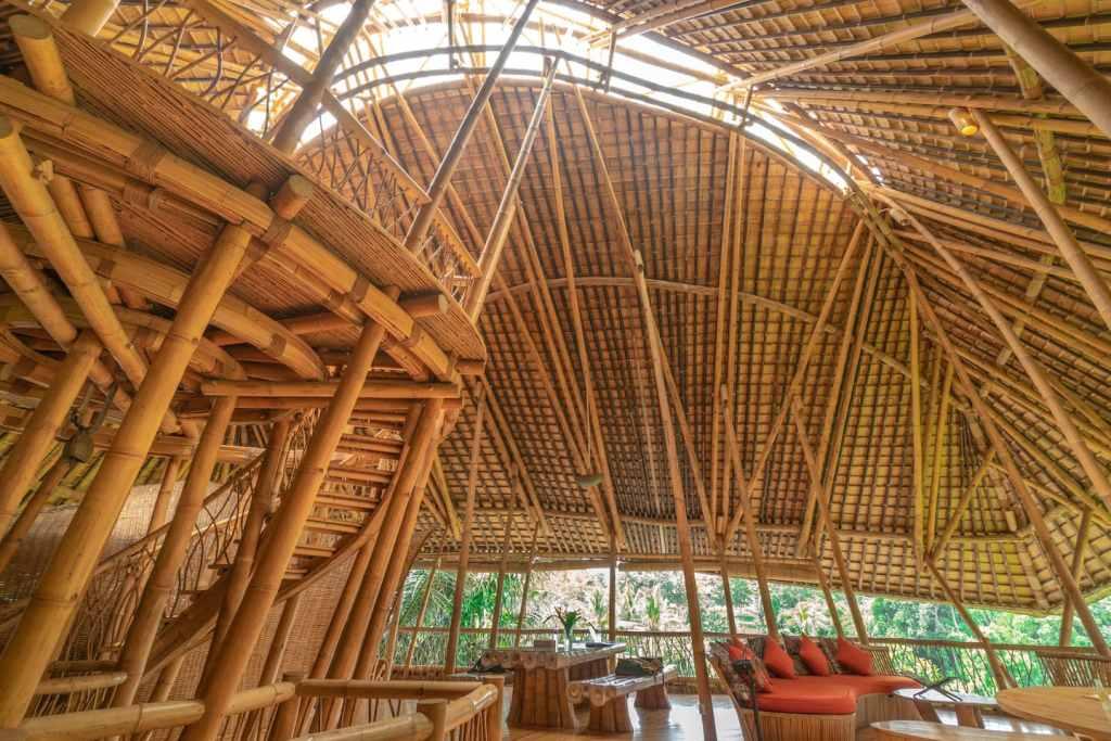 Construction en bambou à Bali