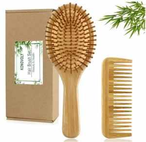 Peigne en bambou et brosse