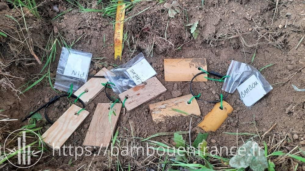 Enfouissement des échantillons sous terre