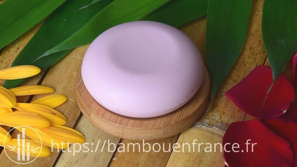 Petit porte savon en bambou rond