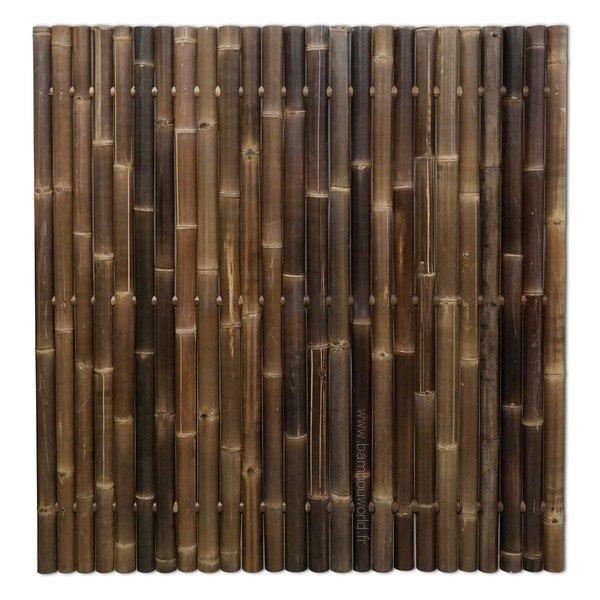 cloture bambou noir o 60 80mm geant