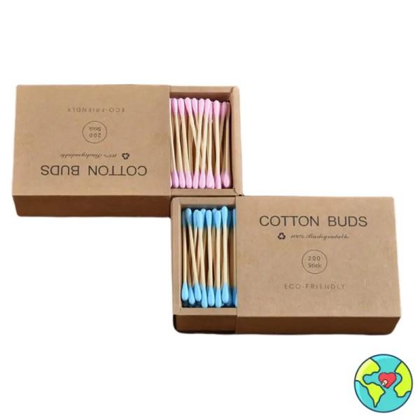cotton fioc bamboo colorati