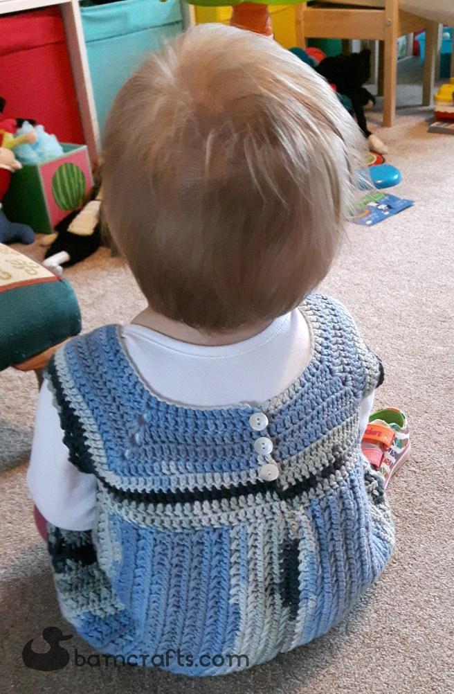 back of stormy crochet dress