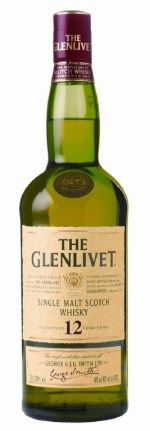 "A bottle of The Glenlivet, 12 Years Old, as it was labeled and sold in the mid-2000s around the time ""Kaisha"" was produced."
