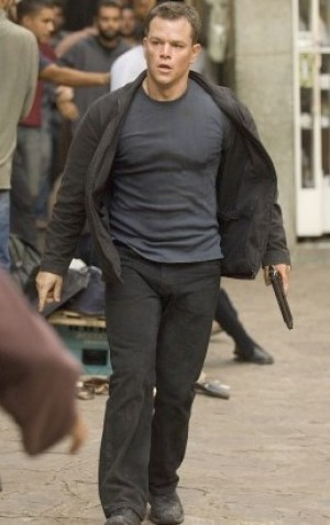 Matt Damon as Jason Bourne in The Bourne Ultimatum.