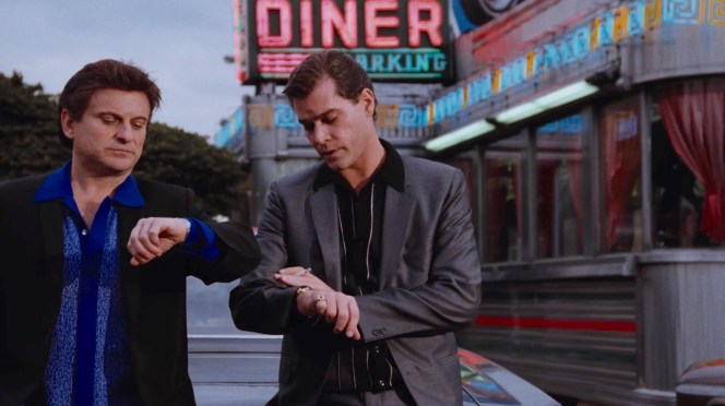 "Interesting (and actually true) piece of trivia: Joe Pesci's character, Tommy, was actually born in 1950 and, thus, would've been 13 years old in this scene. Pesci was 46 when <em>Goodfellas</em> was filmed in mid-1989. The real Tommy died a few months before he would have turned 29 and was actually pretty tall and physically imposing. Although he didn't look the part, Joe Pesci's brilliant and frightening performance redefined the ""psycho gangster""."