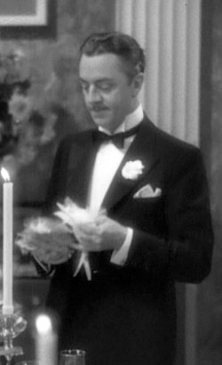 William Powell as Nick Charles in The Thin Man.