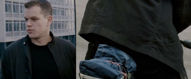 Bourne's jacket worn with the lining in England (left) and without the lining in Morocco (right).