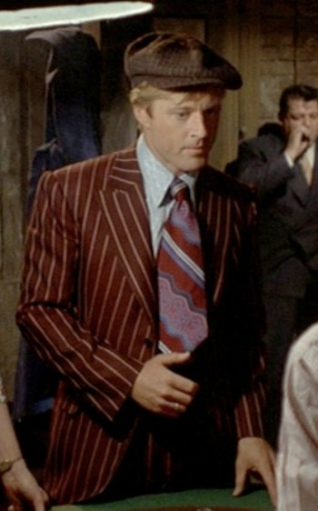 Robert Redford as Johnny Hooker in The Sting.