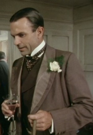 Sam Neill as Sidney Reilly during his first wedding on Reilly: Ace of Spies.