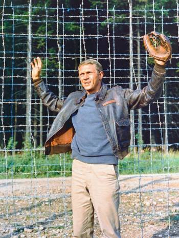 Steve McQueen as Captain Virgil Hilts, USAAF, in The Great Escape (1963)
