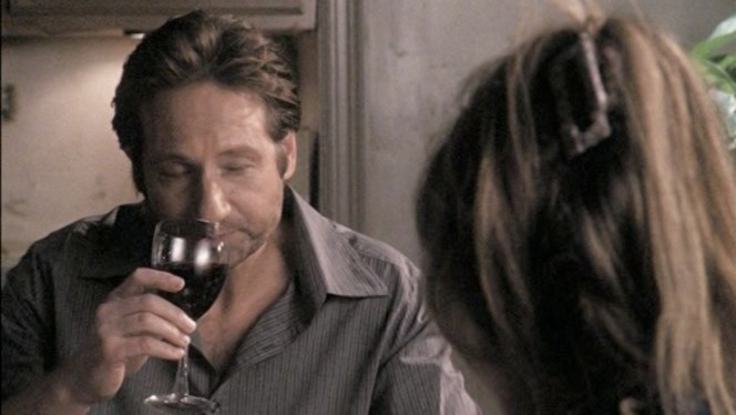 I think it was just a poorly-timed screencap, but it definitely looks like Hank is channeling wine snobs here.