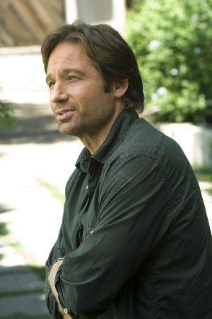 David Duchovny as bored writer and master chef Hank Moody on Californication.
