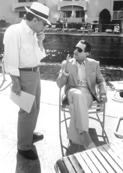 Two titans: Scorsese and De Niro, poolside in Vegas during the production of Casino (1995)