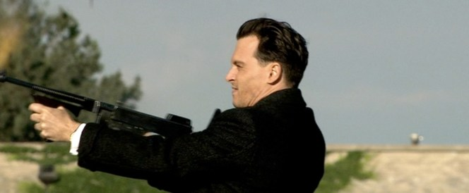 Dillinger, firing a Thompson and giving 0 fucks.