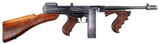An image of a Colt M1921AC Thompson, as found on IMFDB.org, a wonderful resource for guns used in films and TV.