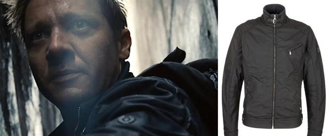 Belstaff's distinctive logo is present, but not distracting, on the film jacket.